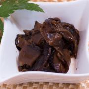 味付細切椎茸の写真。神戸の玉子焼、だし巻の製造・販売メーカー武田食品