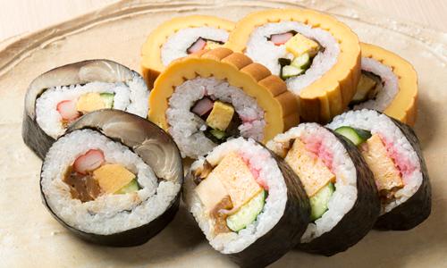 オボロB(ピンク色)、お寿司屋さんの巻寿司、ばら寿司に
